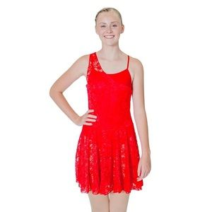 Red contemporary/ballet dance costume 💃🏻